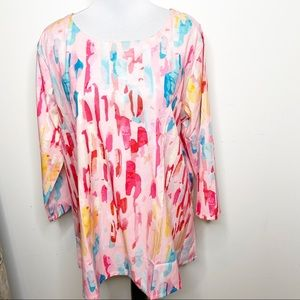 Misslook colorful tunic top 3xl